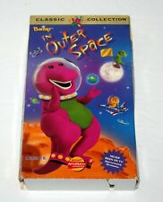 Barney In Outer Space VHS Video Tape 1997 Classic Collection, Purple Dinosaur