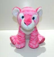 """Aurora World Destination Nation Pink Tiger Plush Toy Stuffed Animal Friend 12"""""""