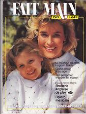 FAIT MAIN pas à pas N°6 juin 1991 couture tricot décoration