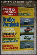 AMS Auto Motor Sport 13/72 VW Porsche 914 BMW 1802 Audi 100 VW 411