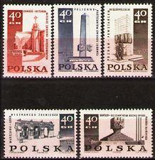 Poland 1968 Sc1620-4Mi1885-9 0.30 MiEu 5v mnh Martyrdom&fight of the Poles