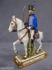porcelaine de Capodimonte Soldat HUSSARD 1808 Garde à cheval Napoléonienne