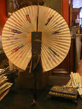 antique fan fan abanico ventaglio has system paper lacquer chinese character