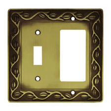 64193 Antique Brass Leaf & Vine Single Switch/GFCICover Plate