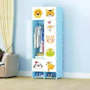 10 Cube Closet Wardrobe Modular Storage Organizer Clothes Kids Furniture Shoe
