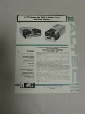 Original Vtg Altec Model 9471A 9476A Monitor Cuing Amp Specification Sheet (A3)