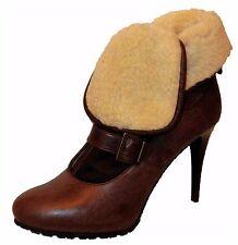 APART Damen Schuhe Stiefeletten Stiefel Winterstiefel Gefüttert Braun NEU