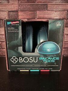 Bosu Balance Pods 2-Sided Dynamic Training Home Workout Pods, Blue (2 Pack)