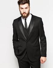 Men Black Suits Designer Wedding Grooms Tuxedo Dinner Suit (Jacket+Vest+Pants)