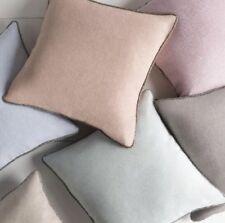 "NWT Surya Sky Blue Sasha Hand Beaded Linen Pillow Cover 18X18"" NEW"