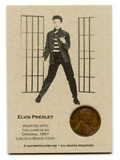 1 only  RARE COIN CARD  - ELVIS PRESLEY 1957 CLASSY PROTECTOR
