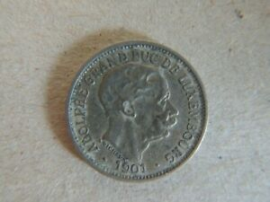 Luxembourg 1901 10 Centimes Coin