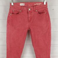 GAP womens size 25 in. stretch solid salmon pink skinny slim denim jegging NWOT