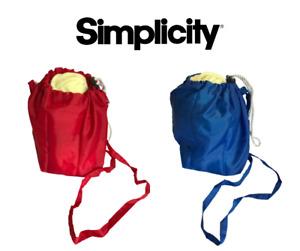 Simplicity Boye Yarn Holder Knitting Storage Ball of Wool - Blue or Red