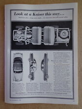 KAISER Car Auto automobile 1953 ad advertisement