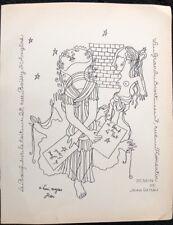 """COCTEAU JEAN """"PAN """" ANNUAIRE DE LUXE A PARIS DE PAUL POIRET 1928"""