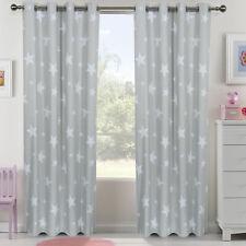 "Kids Children Curtain Coated Blockout Eyelet Window Drape Star 66""x72"""
