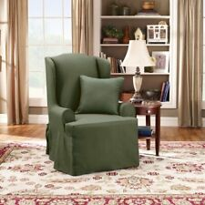 Sure Fit Twill Supreme - Wing Chair Slipcover - loden