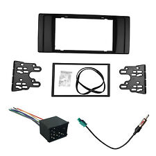 Radio Fascia for BMW E39 E53 2 Din Stereo Panel DVD Dash Frame With Wiring Kit