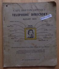 1955 CAPE BRETON, NS, MT&T TELEPHONE DIRECTORY PHONE BOOK, NOVA SCOTIA, VINTAGE