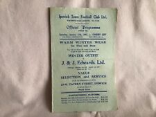 More details for ipswich town fc v cardiff city rare football combination programme jan 11th 1947