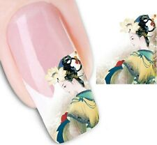 Nail Art Stickers Water Decals Transfers Geisha French Tips (XF1316)