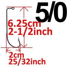 Lot 50 Big Jig Fishing Hook 90 Degree O'shaughnessy Aberdeen Fishhook Paxipa 5/0
