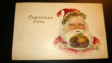 Antique  Christmas Post Card -  Embossed. Stamped. 1914