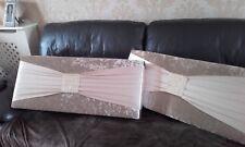Boxed window padded pelmet 3ft champage crush velvet