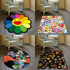 Takashi Murakami Velboa Floor Rug Carpet bedroom Doormat Chair Mat Custom Made