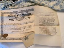 1921 Texas Marriage License WITH 1930 Court Divorce Decree, Same Couple..Oh Well