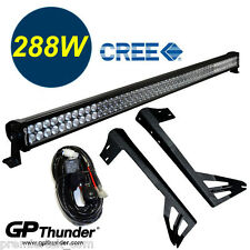 50inch Off Road 288W CREE LED Light Bar Mounting Bracket Jeep JK Wrangler 07-17