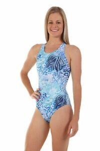 Nova Swimwear Ladies Sport Back Racer Wild One Piece Chlorine Resistant Swimsuit
