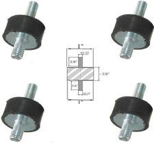 "4 Rubber Vibration Isolator Mounts (1"" Dia x 3/8'' Thk) 10-32 x 3/8"" Long Stud"
