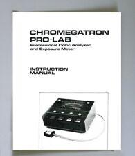 Omega Chromegatron Pro-Lab Analyzer, Exposure Meter Instruction Manual photocopy