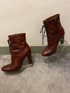 Hobbs Lace Up Heeled Boots Size 37/UK 4