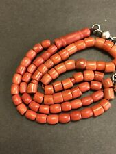 Antique Mediterranean Yamani Salmon red coral - 67 islamic prayer beads 33grams