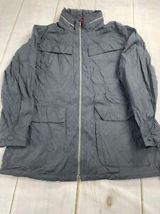Nautica Men's Size Large Long Sleeve Stand Up Collar Zip Up Sailing Jacket Gray