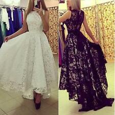 UK Womens Lady Lace Formal Prom Casual Cocktail Party Ball Gown Evening Dresses