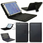 """For Samsung Galaxy Tab A 7""""10.1 / Tab A 8"""" E 8"""" Leather Case Cover with Keyboard"""
