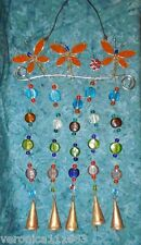 Dragonfly Cast Iron Wind chime New 5 copper Mongolian Bells Glass bead 1lb 0.2oz