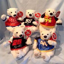 Nascar Coca-Cola Polar Bear 5/Lot Burton, Petty, Irwin, Elliott, Jarrett $17.99