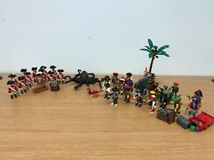 Playmobil Pirates and Red Coat Soldiers 32 People and an octopus