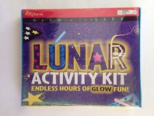 Lunar Activity Kit Glow In The Dark Arts Crafts Stencil Paint Glow Stars
