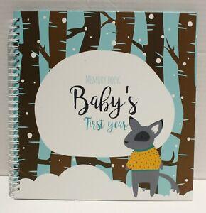 Unconditional Rosie Baby's First Year Memory Spiral Book w/Milestone Stickers
