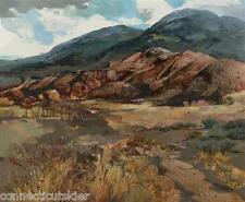 Laurence Sisson, Southwest?NM?AZ?,Oil Painting,American,Maine Artist,Japan