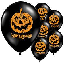 10 Happy Halloween Stampato Nero Lattice Palloncini CHEQUER ZUCCA