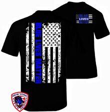 Thin Blue Line Shirt T-Shirt Blue Lives Matter American Flag Decal Apparel