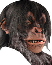 Morris Costumes Fur Head Cover Full Over The Head Latex Chimp Mask. 6001BS