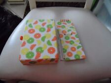 Lemon and lime notebook and pencil box